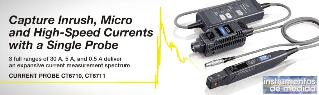 Corrientes de transitorias, micro y de alta velocidad con una sola sonda